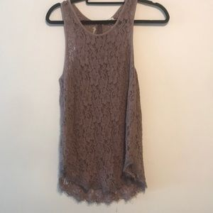 Wilfred lace tank in lilac sz med